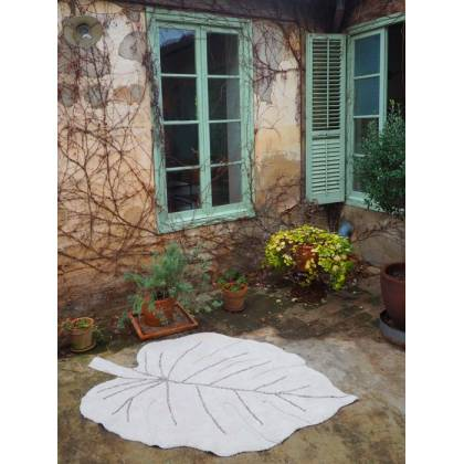 Alfombra Lavable Monstera Natural