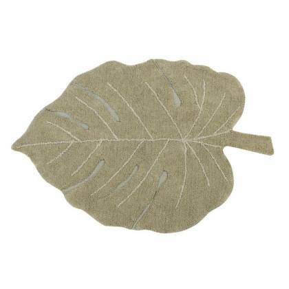 Tapis lavable Monstera Olive