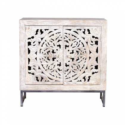 Sideboard in white mango wood