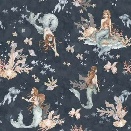 Carta da parati Mermaids in Sea