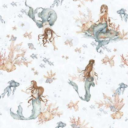 Carta da parati Mermaids in Waves