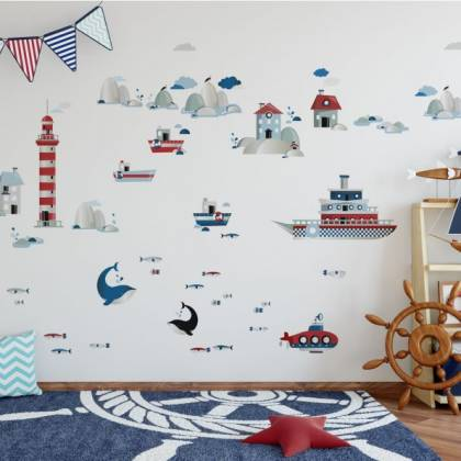 Life By The Sea Wallsticker