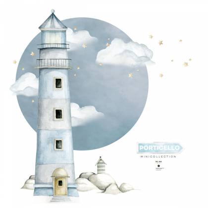 Lighthouse Porticello Wallsticker
