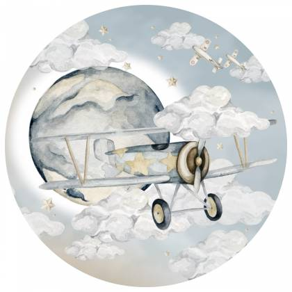 Autocollants Plane In A Circle