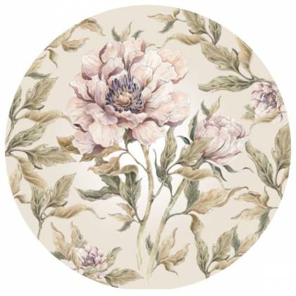 Peony In A Circle Wallsticker