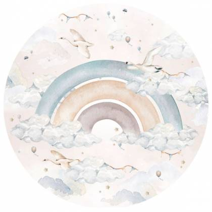 Rainbow In A Circle Wallsticker