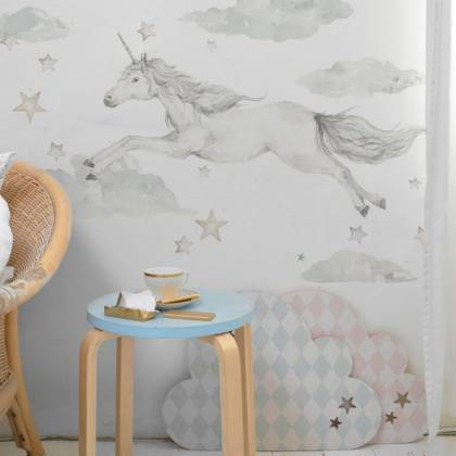 Unicorn In The Sky Wallsticker