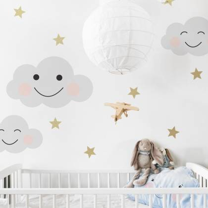 Smily Clouds Wallsticker