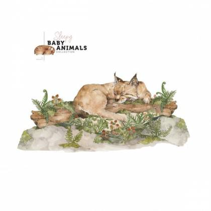 Sleepy Wild Cat Wallsticker