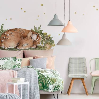 Sleepy Deer Wallsticker