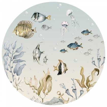 Sea World In A Circle Wallsticker