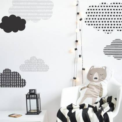 Scandinavian Clouds Wallsticker