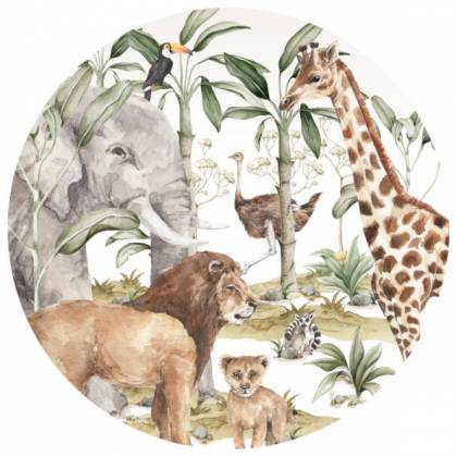 Savanna In A Circle Wallsticker