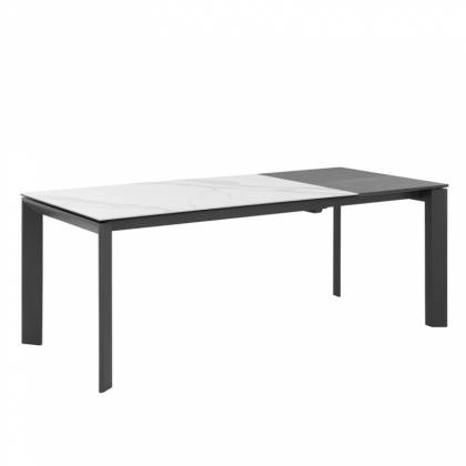 Table ext. LISA 140 Marble Crete / Anthracite