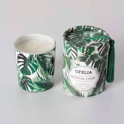 Tropical Oasis jar scented candle