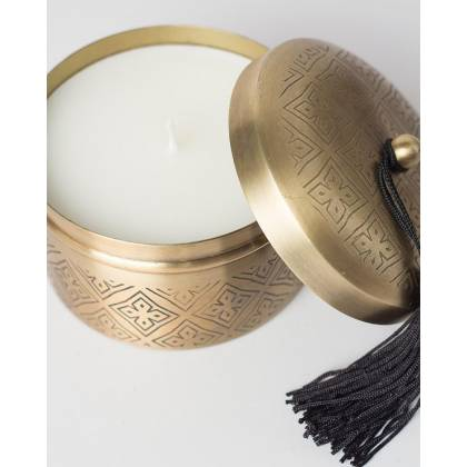 Small metal container candle Anisa