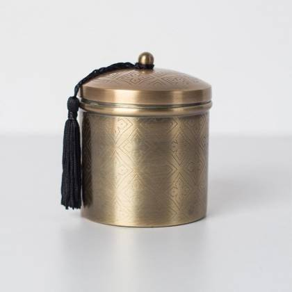 Big metal container candle Anisa