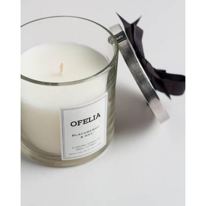 Coquette medium lid glass candle