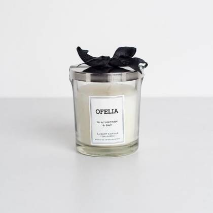 Coquette small lid glass candle
