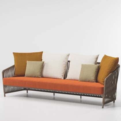 Rope 3 Seater Dining Armchair BITTA LOUNGE