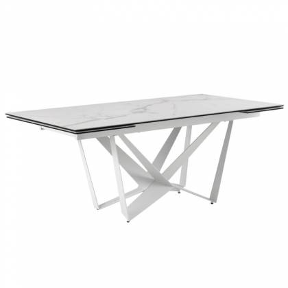 Table ext. ISIA 180 Marbre / Blanc