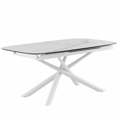Table ext. NESS 180 Marbre / Blanc