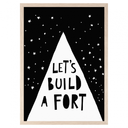 Imprimé Let´s build a fort