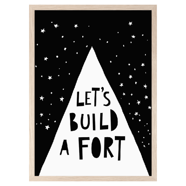 Lámina Let´s build a fort