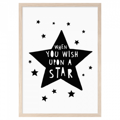 Imprimé When you wish upon a star