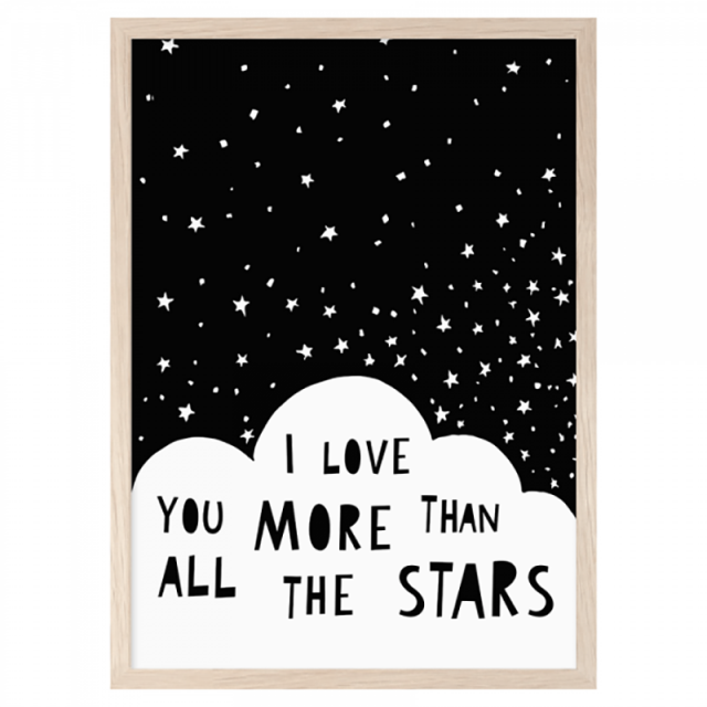 Lámina I Love you More than all the stars