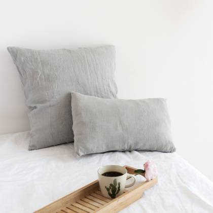 Grey Linen Cushion 30x40