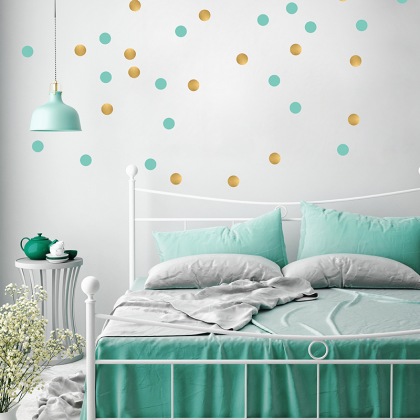 Mint Dots Wall Stickers