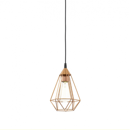 Copper Tarbes Pendant Lamp - Black