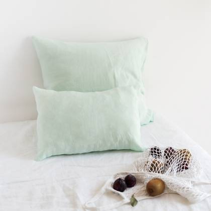 Mint Linen Cushion 50x50