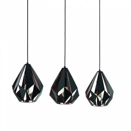 Triple Carlton pendant Lamp Chrome