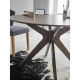White dining table / oak